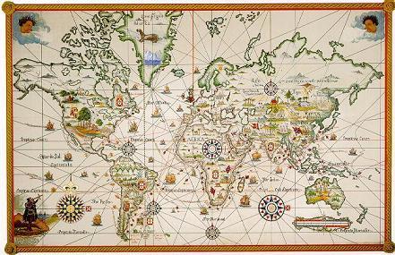 Mapa Descobrimentos