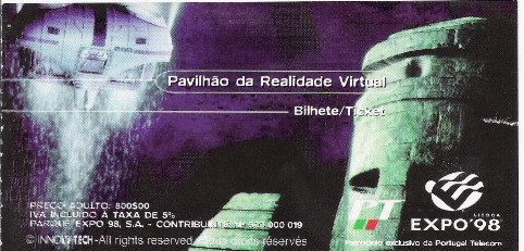 Bilhete Pavilhão Realidade Virtual
